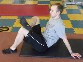 Stretching the second glute muscle
