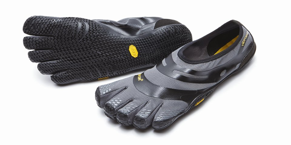 EL-X Grey Black Vibram Fitness Gym Shoes