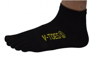V-TOES Sport Black ankle toe socks toesocks Ireland