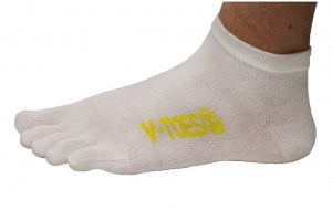 V-TOES Sport White ankle toe socks toesocks Ireland