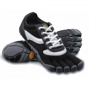 Womens Speed Black / White / Black Vibram Fivefingers Ireland