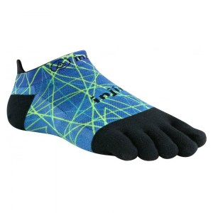 Injinji Run 2.0 Lightweight Toe Socks (Blue/Lime)