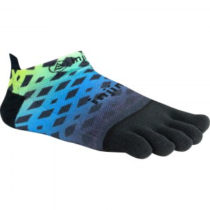 Injinji Run 2.0 Lightweight Toe Socks (Green/Blue Diamond)