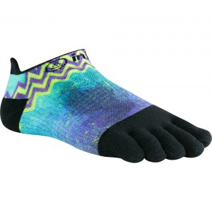Women's Injinji Lightweight No Show Toe Socks (Purple/Green)